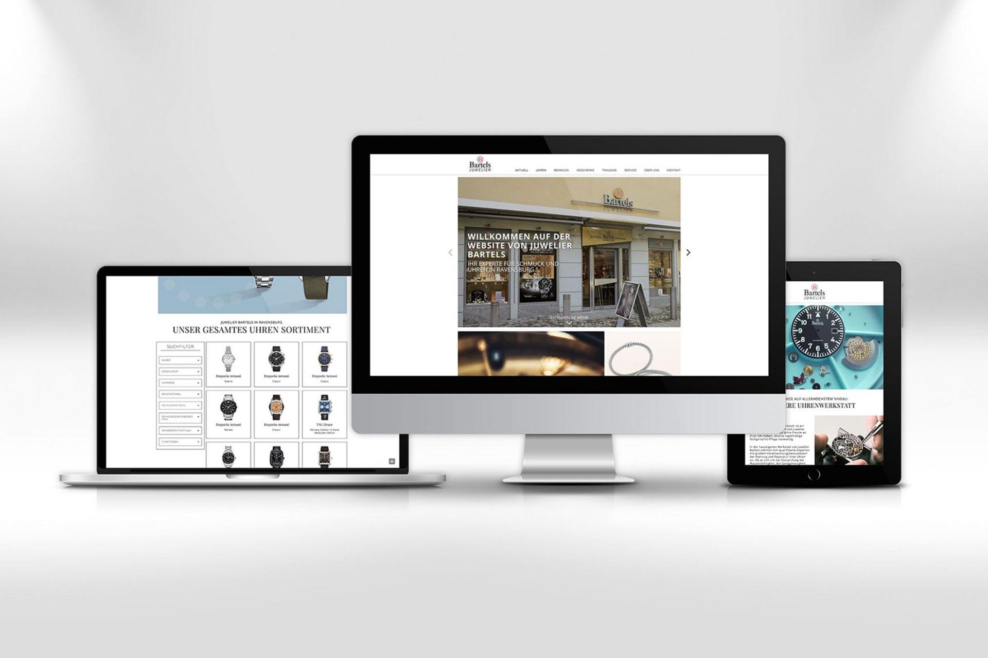 Unsere neue Webseite bei Juwelier Bartels in Ravensburg